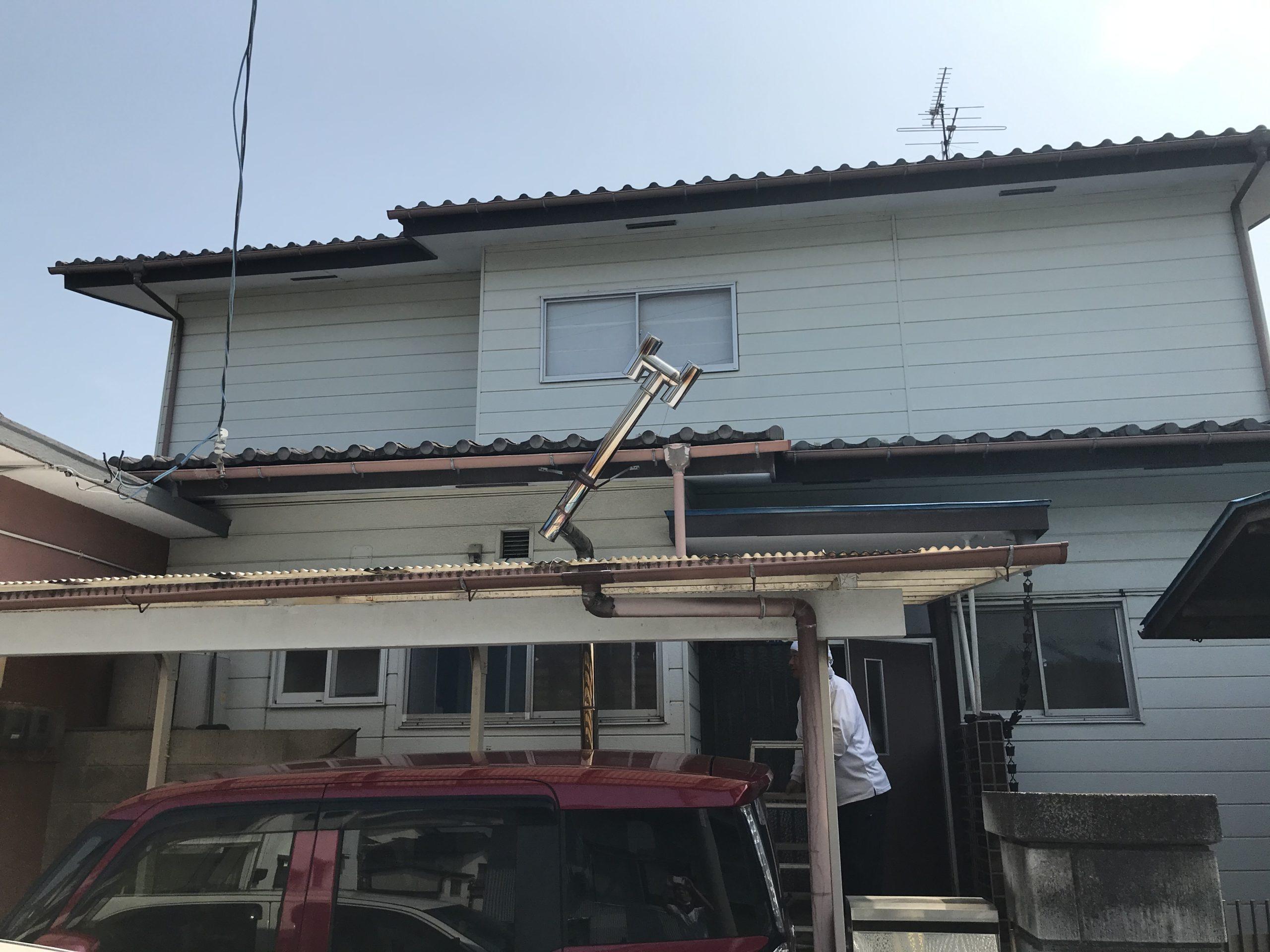 岩沼市で煙突の補修