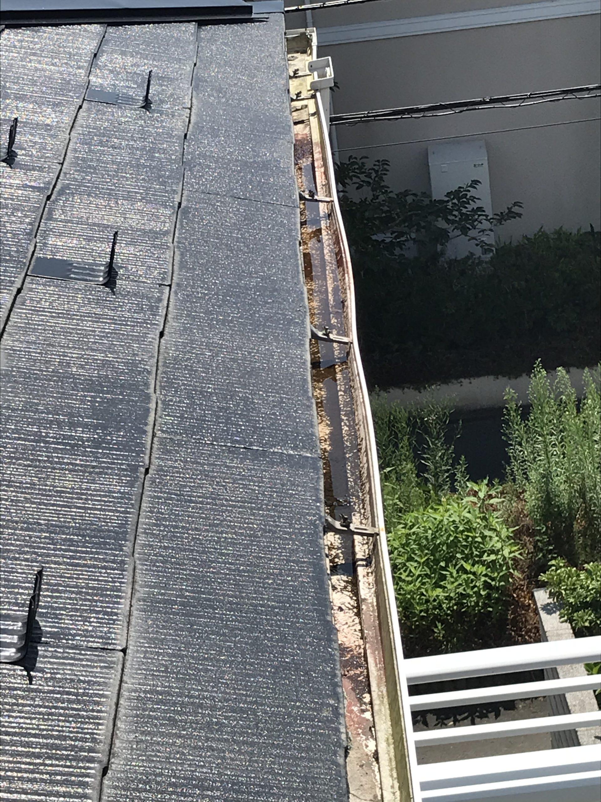 仙台市青葉区の雨樋破損の写真