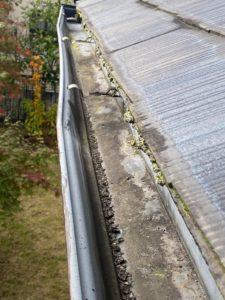 雨樋の勾配不良・排水不良