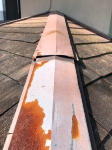 棟板金からの雨漏り